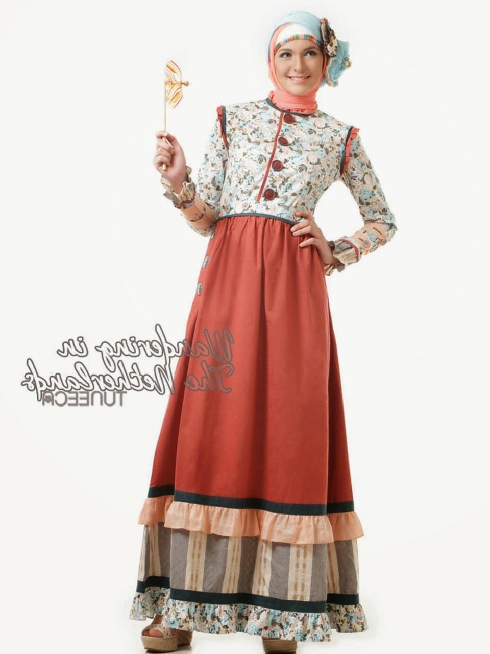 Design Baju Lebaran Cantik Tldn 12 Contoh Model Gamis Muslim Lebaran Terbaru Kumpulan