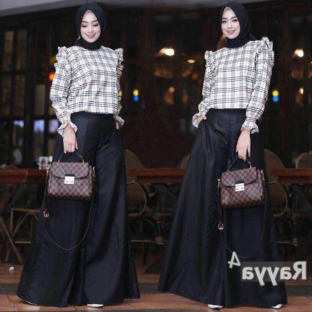 Design Baju Lebaran Celana Dan atasan 8ydm Jual Hijab Modern Rayya Set 2in1 atasan Blouse Dan Celana