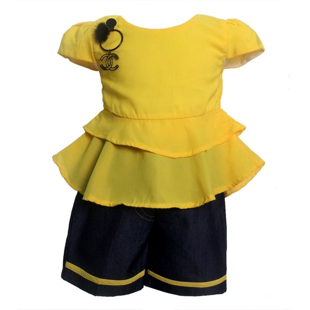 Design Baju Lebaran Celana Dan atasan E6d5 Setelan atasan Dan Celana Anak 2762hrg Rp 66 500 Pcs 1