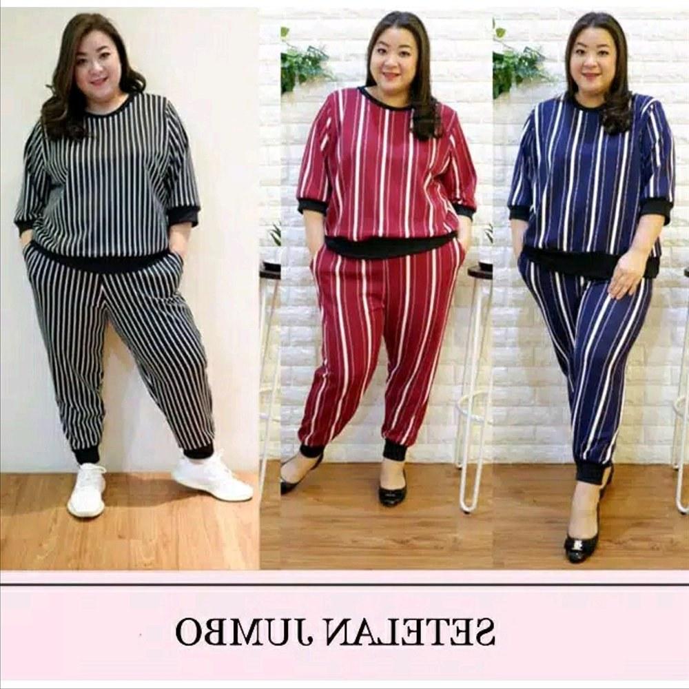 Design Baju Lebaran Celana Dan atasan Etdg Jual Baju Setelan Wanita Jumbo atasan Dan Celana Bigsize