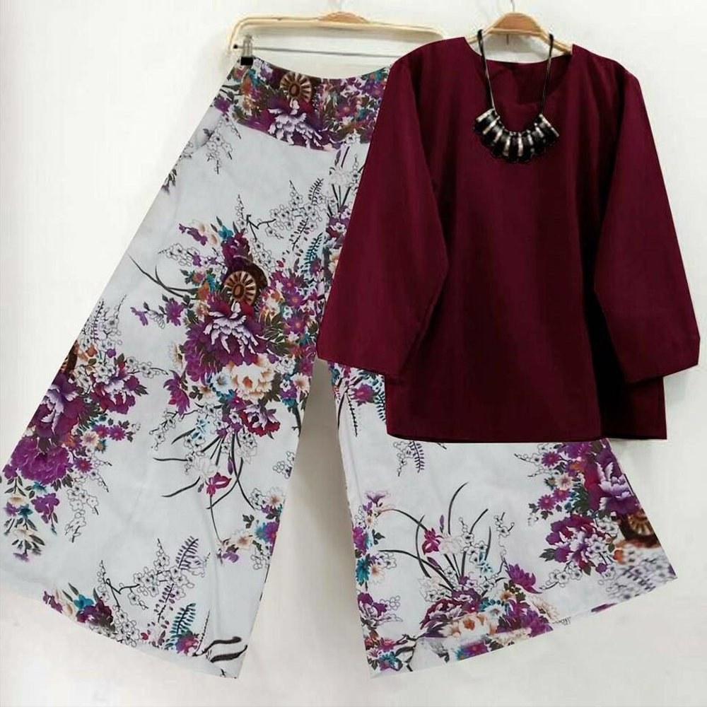 Design Baju Lebaran Celana Dan atasan Ftd8 Jual Setelan Baju Cewek Korea 2in1 atasan Blouse Dan