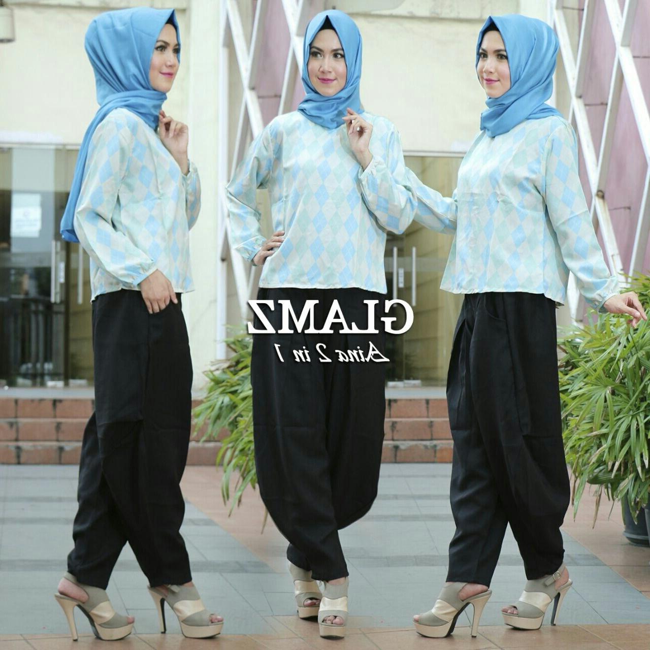 Design Baju Lebaran Celana Dan atasan Thdr Baju Setelan Celana Panjang Wanita Dewasa Model Terbaru