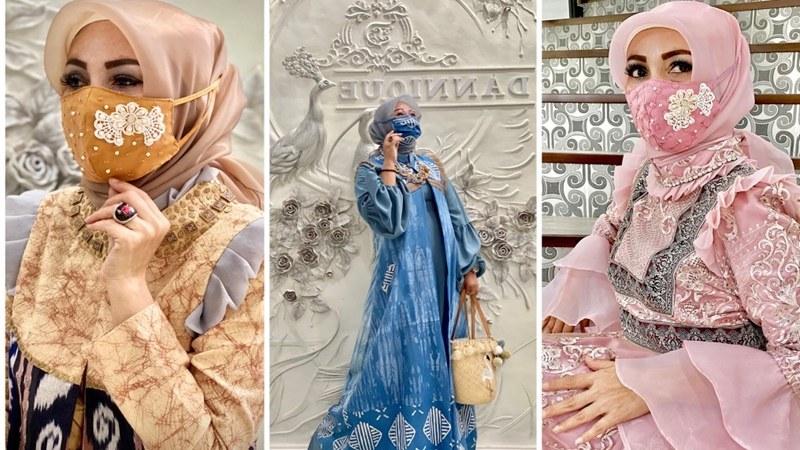 Design Baju Lebaran Hits Xtd6 Tren Baju Lebaran 2020 Bordir & Payet Di Masker Buat Kece