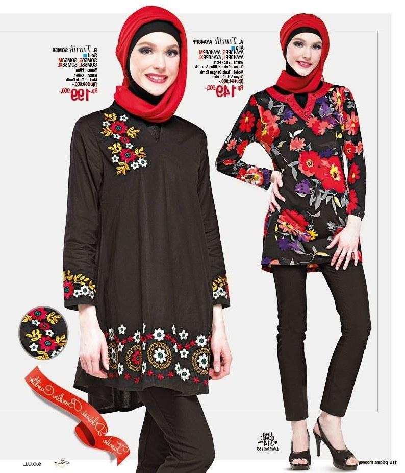 Design Baju Lebaran Masa Kini Rldj Baju Lebaran Wanita Model Gamis Casual Trendy Terbaru