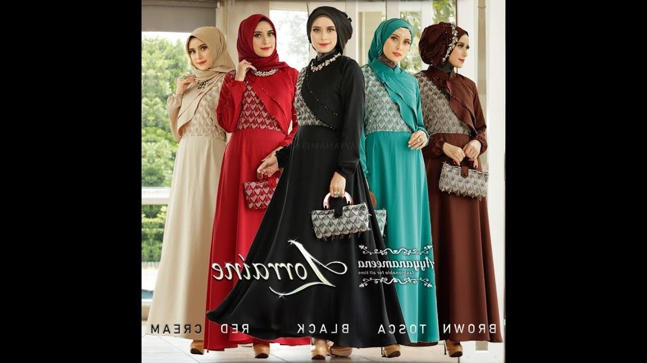 Design Baju Lebaran Masa Kini Rldj Gaya Baju Muslim Masa Kini Elegan Mewah Modern 2018