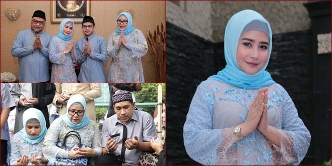 Design Baju Lebaran Prilly Latuconsina Q0d4 Potret Lebaran Prilly Latuconsina Pakai Hijab Makan