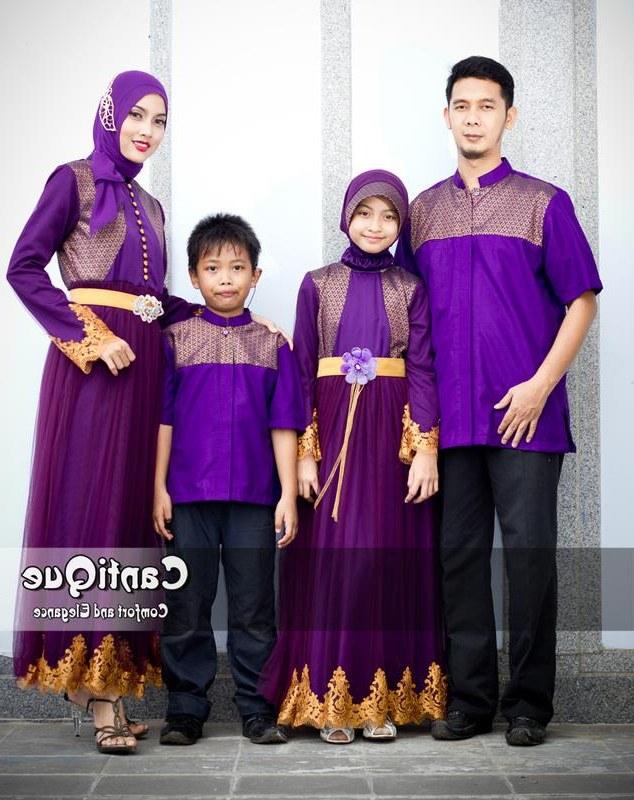 Design Baju Lebaran Seragam Nkde 45 Model Baju Batik Seragam Keluarga Lebaran Terbaru 2019