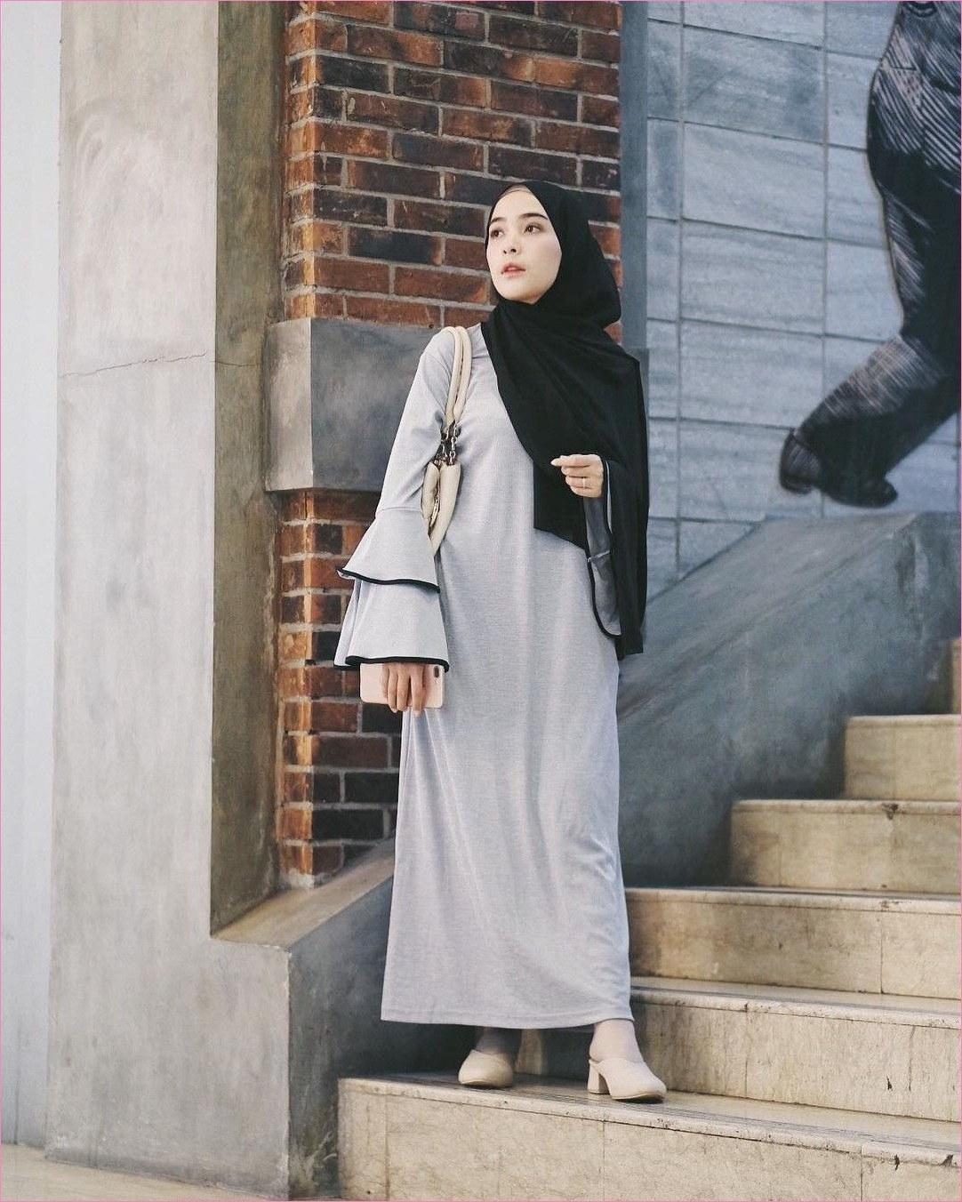 Design Baju Lebaran Simpel Rldj Outfit Baju Remaja Berhijab Ala Selebgram 2018 Pashmina