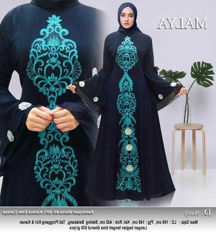 Design Baju Lebaran Terbaru Tanah Abang 3ldq Model Baju Gamis Lebaran Tanah Abang Malya Gamisalya