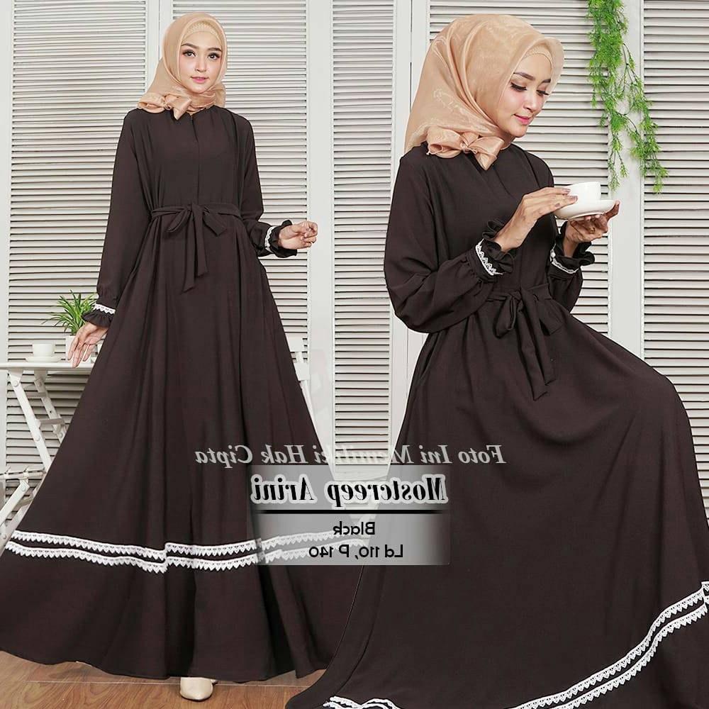 Design Baju Lebaran Terbaru Tanah Abang Dddy Baju Muslim Gamis Wanita Murah Tanah Abang Modern Arini