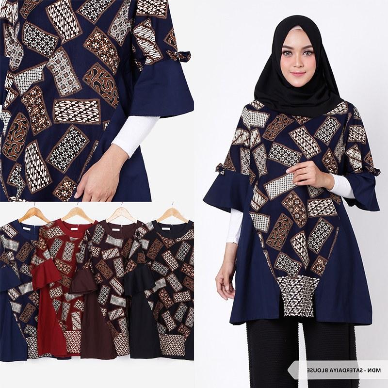 Design Baju Lebaran Tunik Thdr Baju Tunik Wanita Model Terbaru Trend Fashion Lebaran