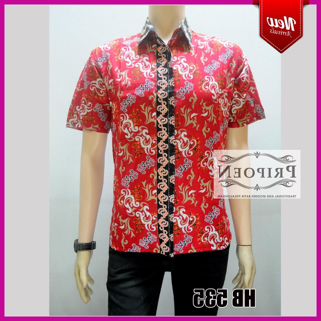 Design Baju Lebaran Untuk Pria Kvdd Kemeja Batik Lebaran – Baju Batik Pria – Hb 535