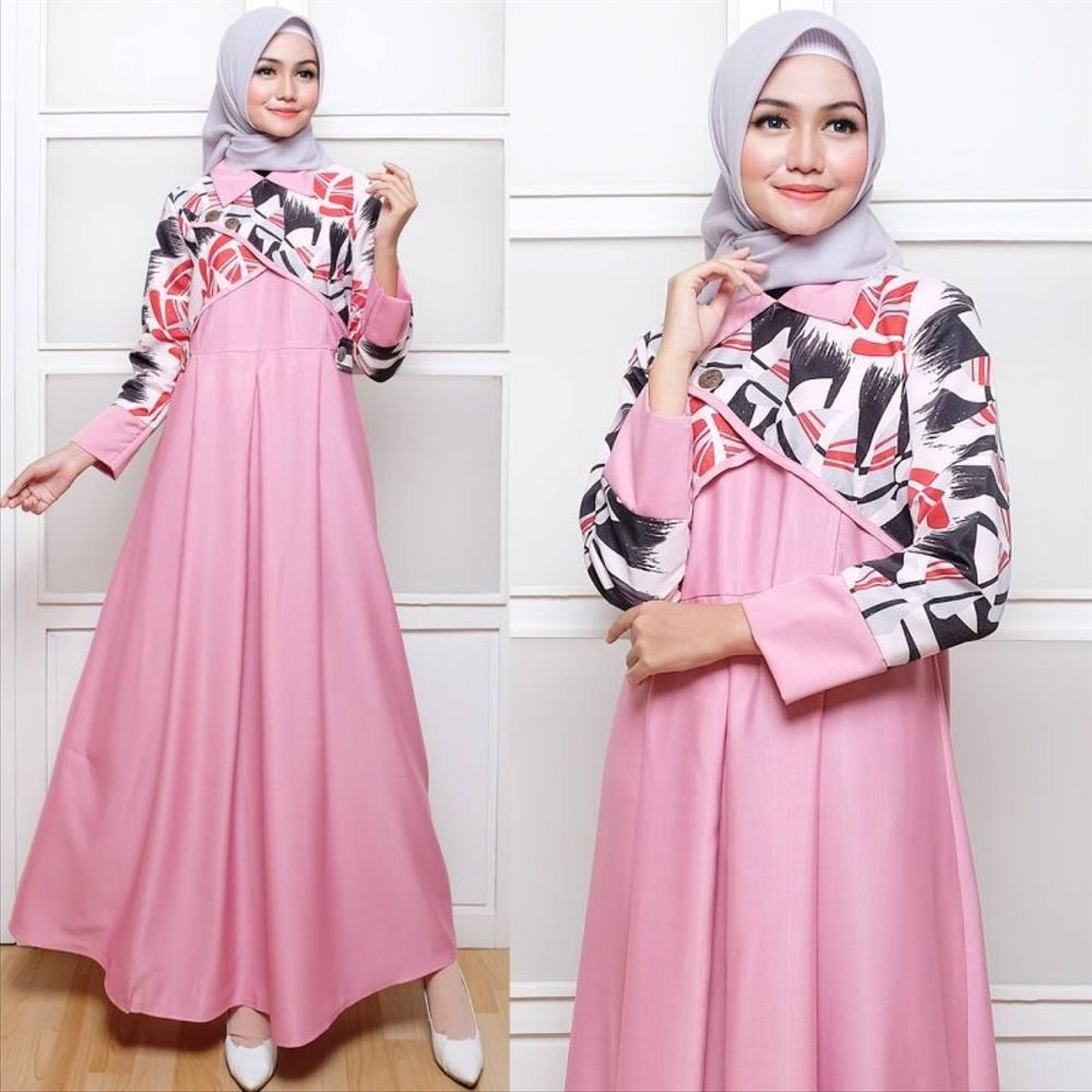 Design Baju Lebaran Wanita 4pde Jual Baju Gamis Wanita Hanbok Pink Dress Muslim Gamis