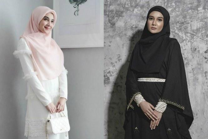 Design Baju Lebaran Zaskia Sungkar Xtd6 Lebaran Bernuansa Hitam Putih Nan Menggoda Ala Zaskia