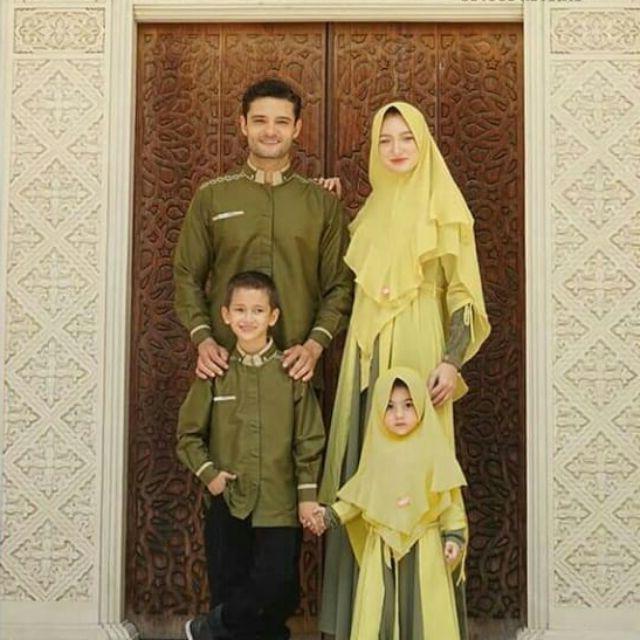 Design Desain Baju Lebaran Keluarga 8ydm 55 Desain Baju Muslim Keluarga Seragam Modern Terbaru