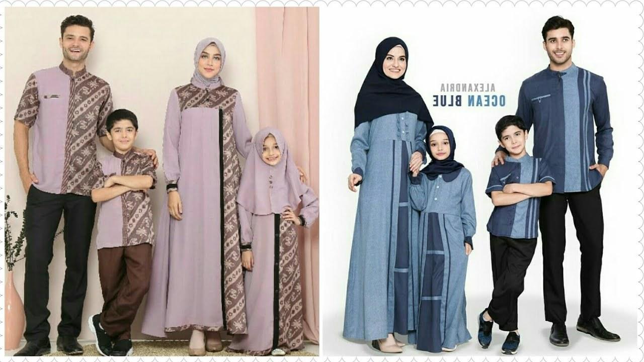 Design Desain Baju Lebaran Keluarga Dddy 55 Desain Baju Muslim Keluarga Seragam Modern Terbaru