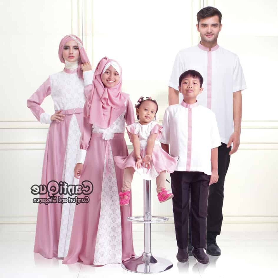 Design Desain Baju Lebaran Keluarga Tqd3 Baju Muslim Keluarga Sarimbit Keluarga Muslim