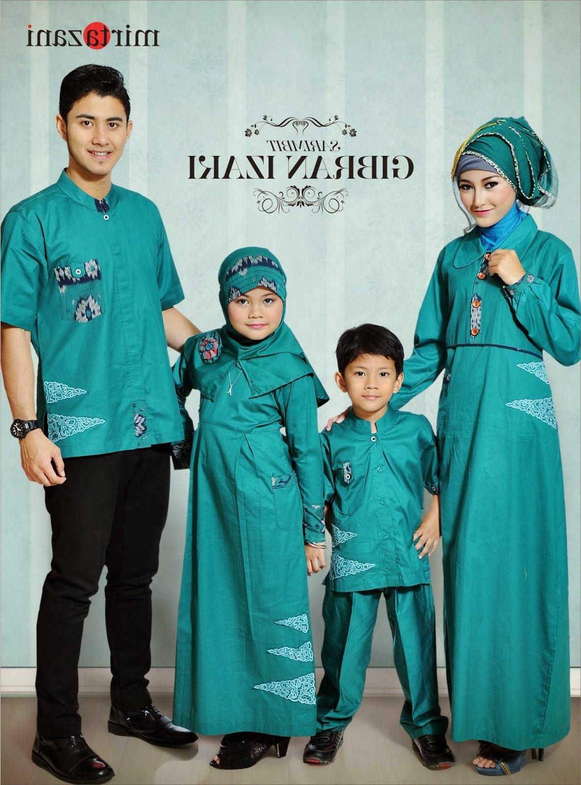 Design Desain Baju Lebaran Keluarga Txdf Baju Gamis Terbaru Keluarga