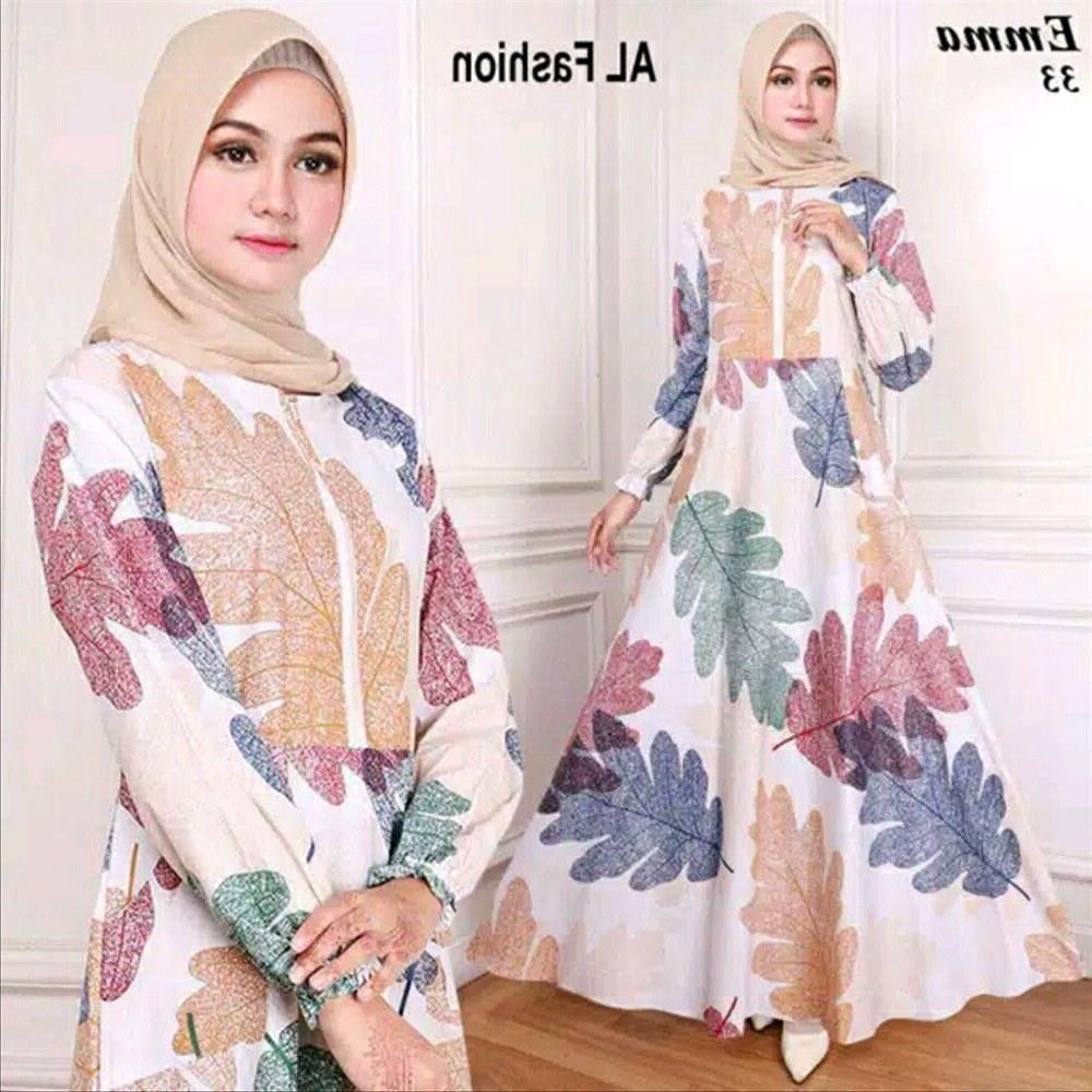 Design Fashion Muslimah Kekinian Drdp Jual Baju Gamis Wanita Muslimah Dress Panjang Kekinian