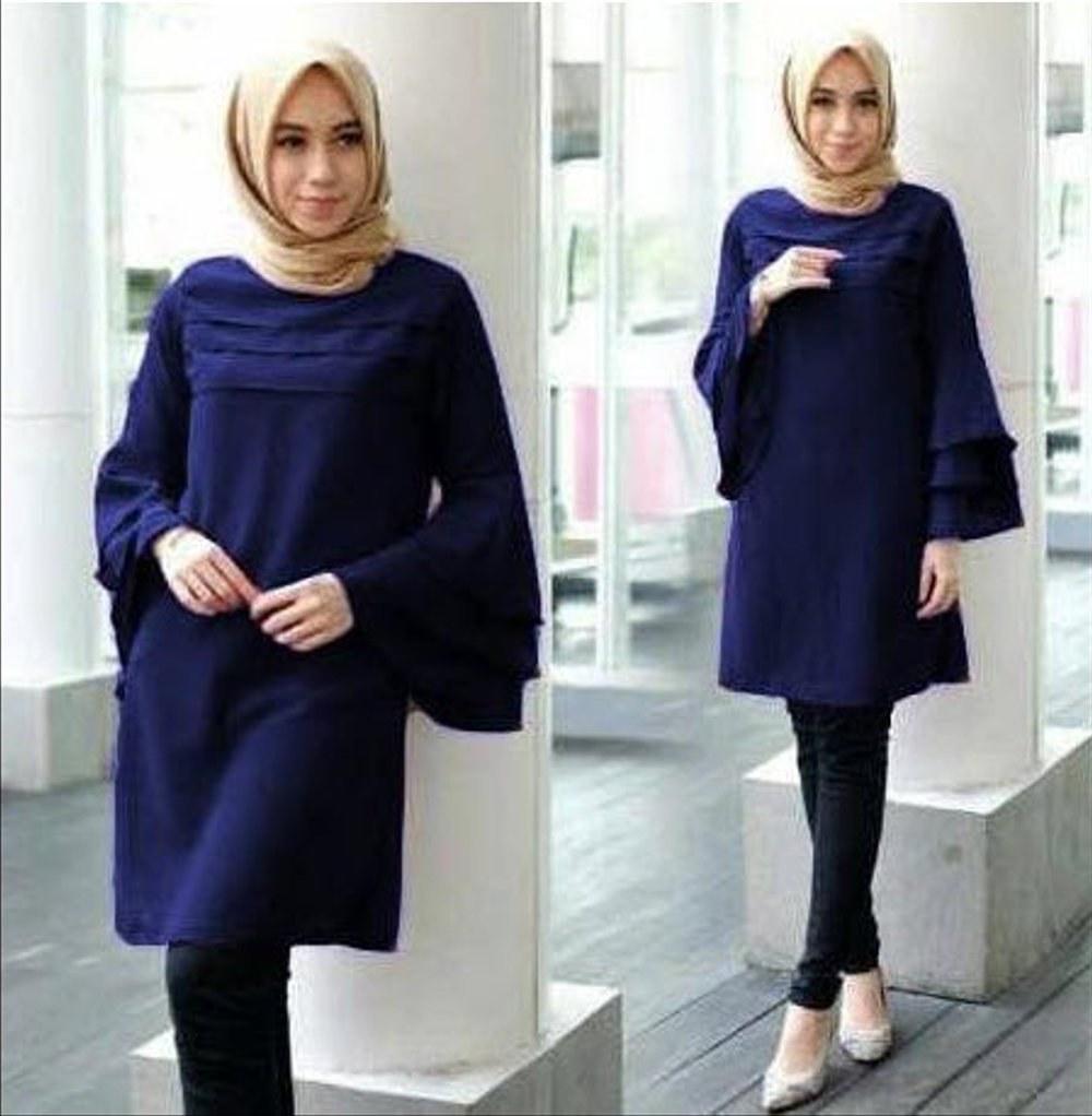Design Fashion Muslimah Kekinian Dwdk Jual Baju atasan Wanita Muslim Model Terbaru Kekinian