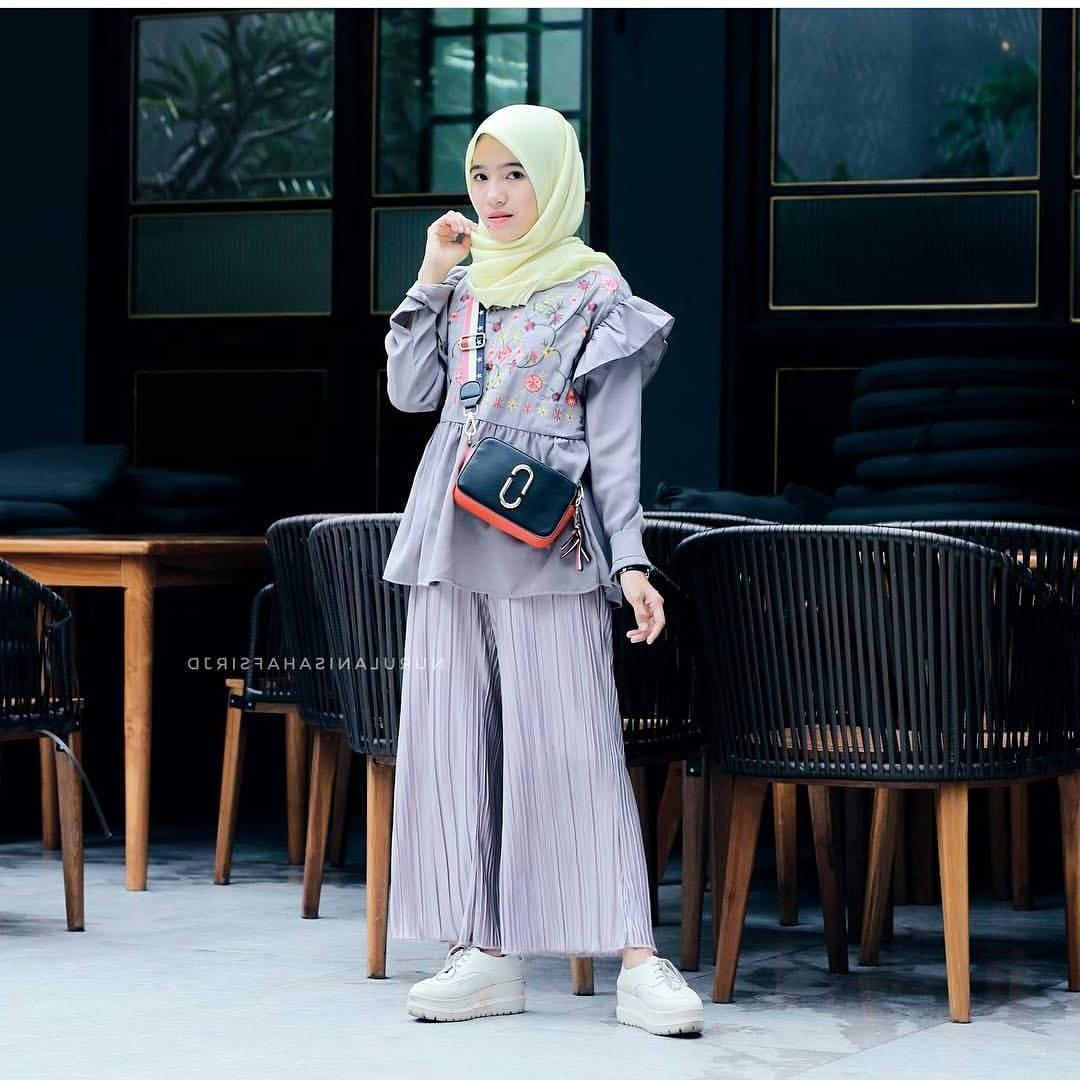 Design Fashion Muslimah Kekinian H9d9 17 Koleksi Fashion Baju Hijab Remaja 2018 Gaya Masa Kini