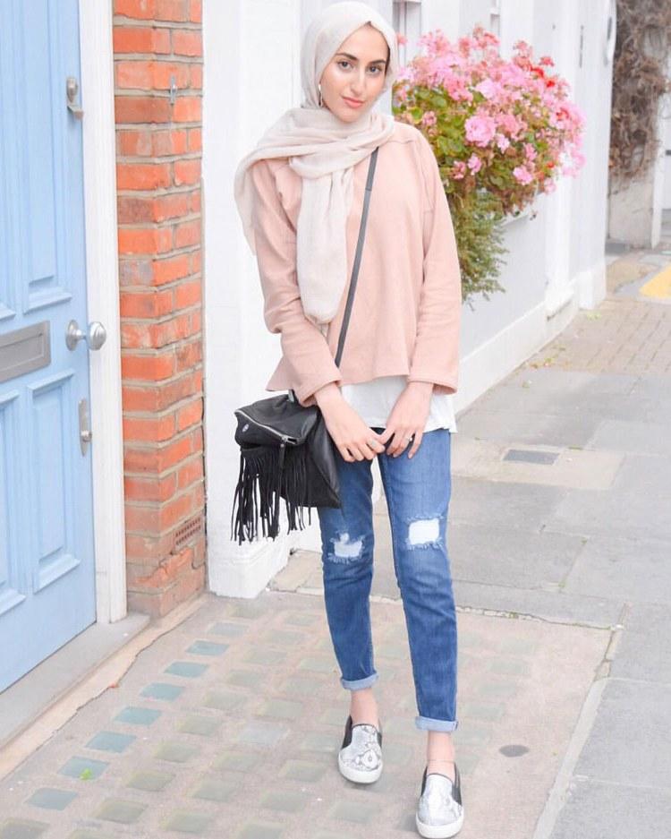 Design Fashion Muslimah Kekinian Irdz 60 Fashion Hijab Casual Remaja Simple Kekinian