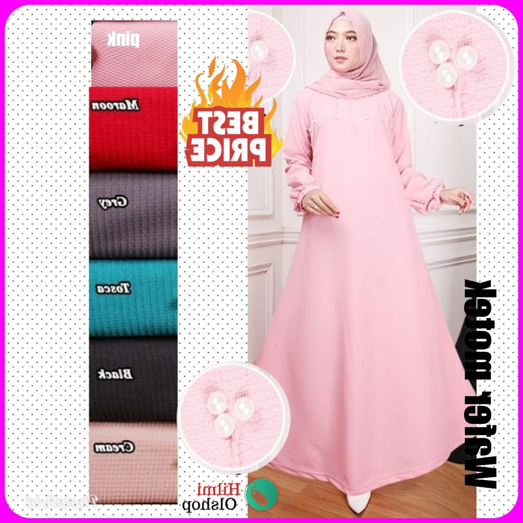 Design Fashion Muslimah Kekinian Nkde Baju Gamis Wanita Murah Gamis Muslimah Kekinian Size Fit L