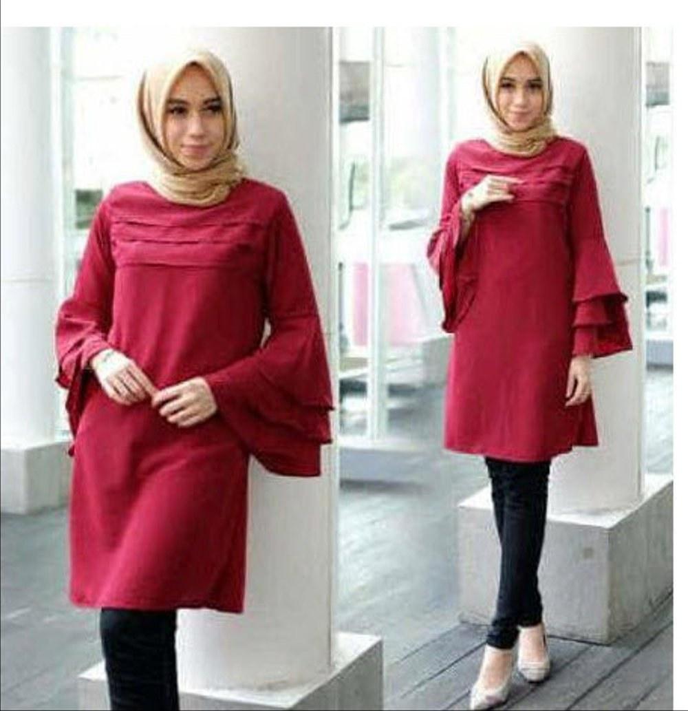 Design Fashion Muslimah Kekinian Nkde Jual Baju atasan Wanita Muslim Model Terbaru Kekinian