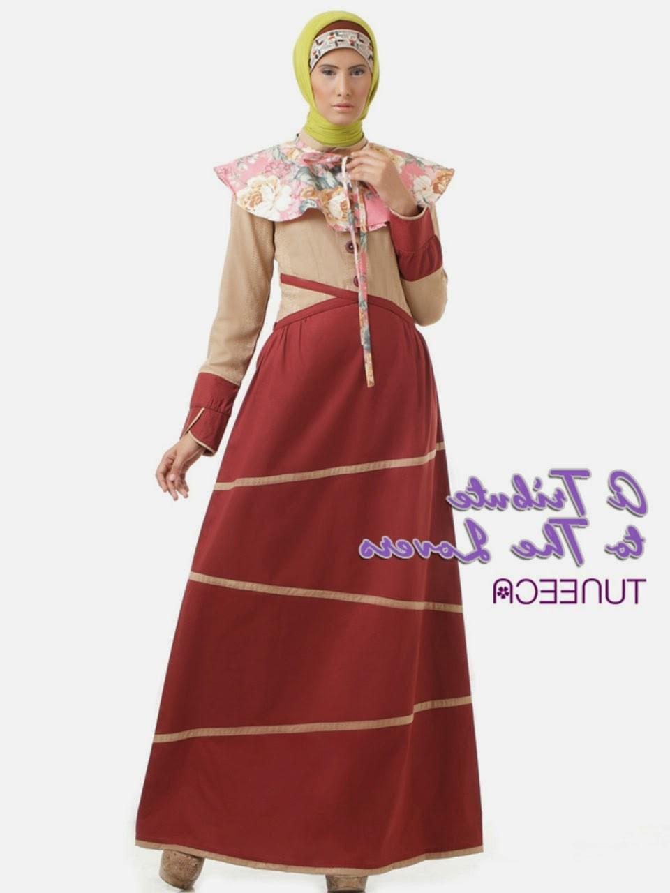 Design Gambar Baju Lebaran 3id6 12 Contoh Model Gamis Muslim Lebaran Terbaru Kumpulan