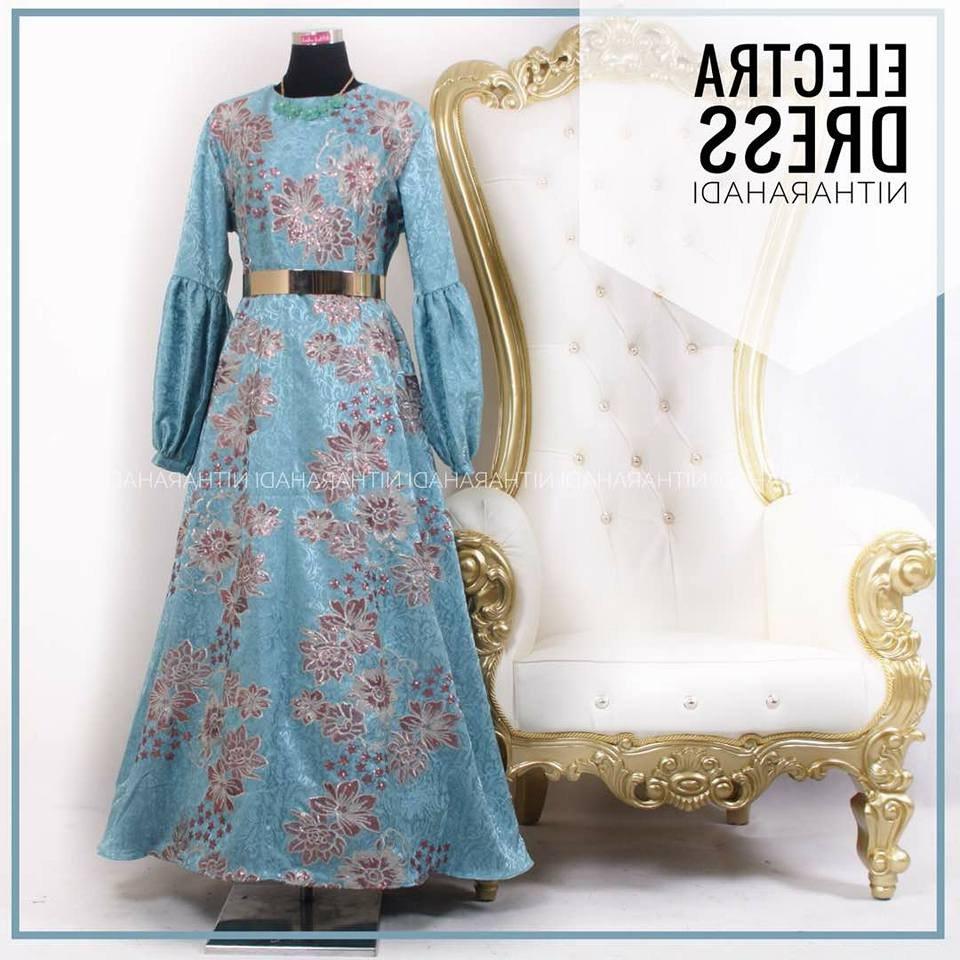 Design Harga Baju Lebaran Keluarga Tanah Abang 8ydm Gamis Pesta Muslimah Electra Dress Made by order