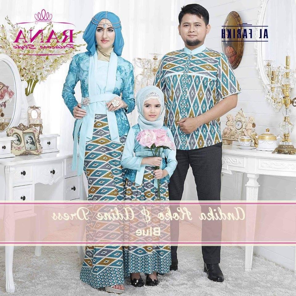 Design Koleksi Baju Lebaran Terbaru Txdf andika Adine Blue – Baju Muslim Gamis Modern