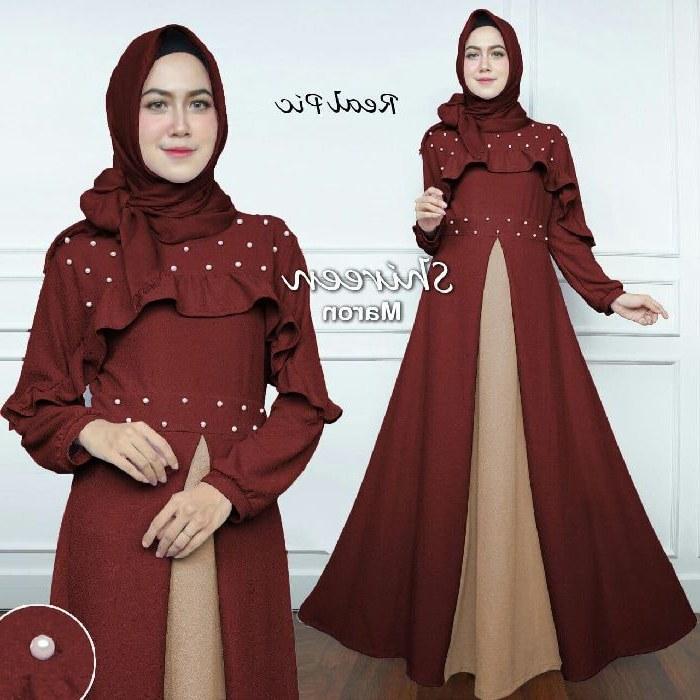 Design Model Baju Lebaran 2019 Terbaru Dwdk Baju Gamis Lebaran Terbaru 2018 Shireen Gamisalya