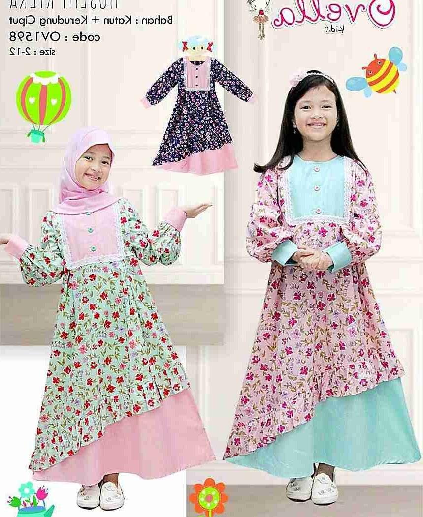 Design Model Baju Lebaran Anak 2018 Whdr Gamis Anak Lebaran Terbaru 2018 Kilka Model Baju Gamis