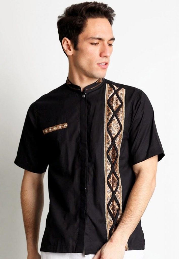 Design Model Baju Lebaran Laki Laki S1du Model Kemeja Muslim Lengan Pendek Modern Terbaru