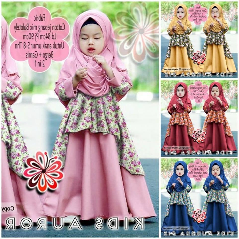 Design Model Baju Lebaran Nissa Sabyan 3id6 Baju Muslim Nissa Sabyan Anak