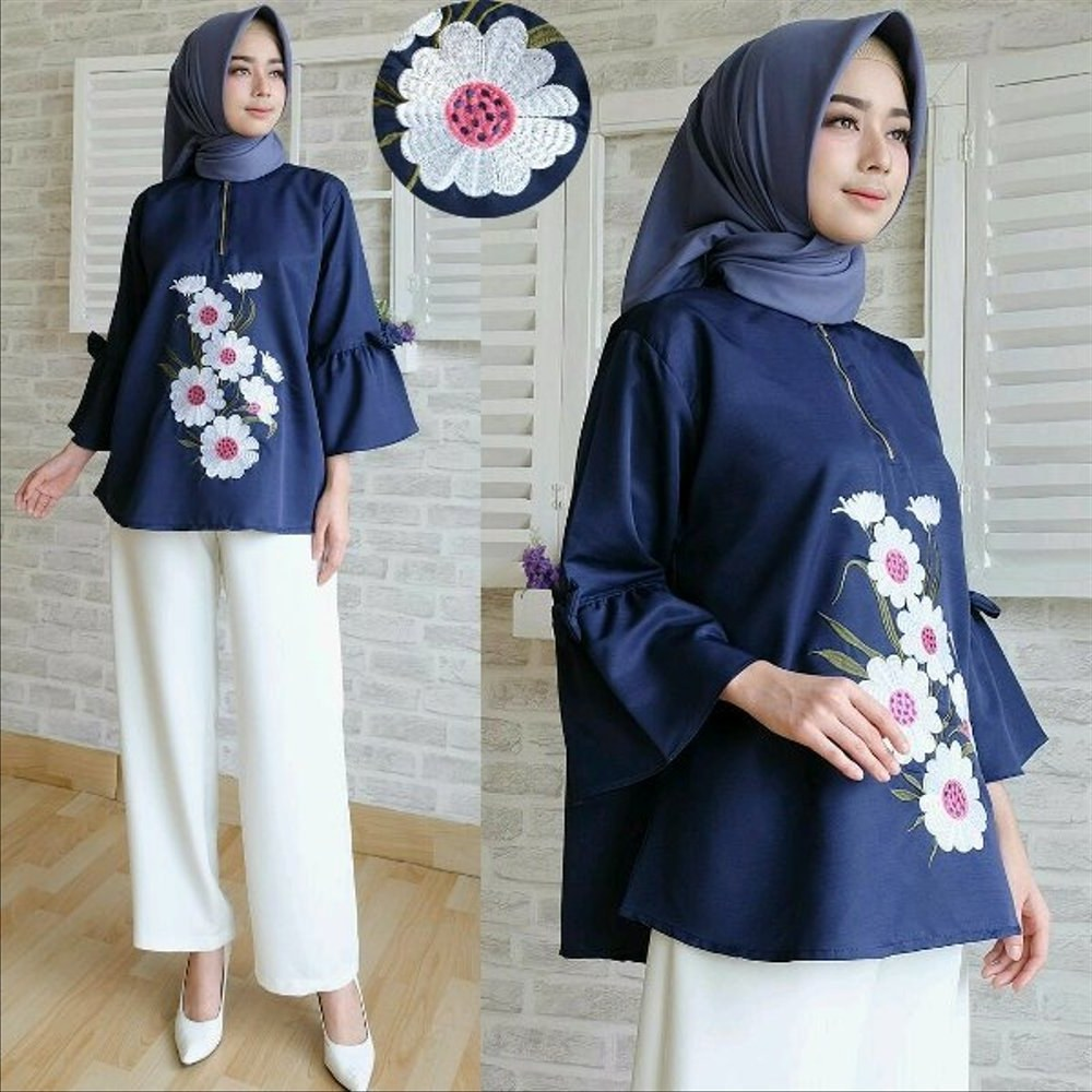Design Model Baju Lebaran Syar'i 2019 Bqdd Jual New 2019 Erkud top Blouse atasan Baju Murah Cewek