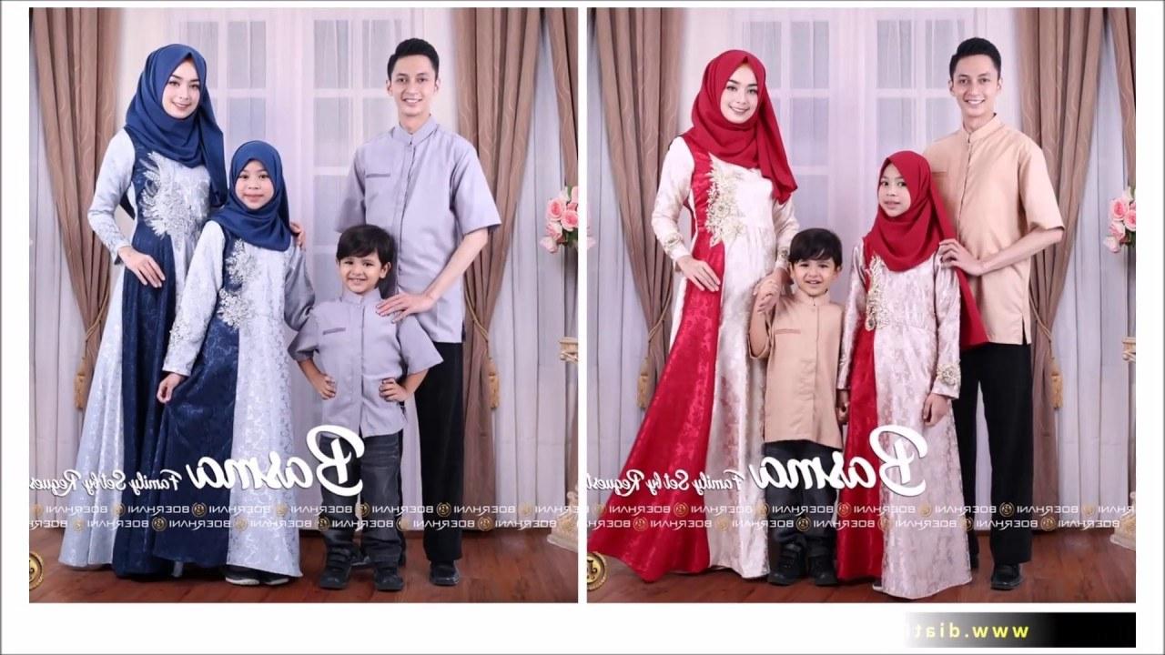 Design Model Baju Lebaran Syar'i 2019 D0dg Inspirasi Baju Lebaran 2019 Couple Keluarga Terdiri Dari 3