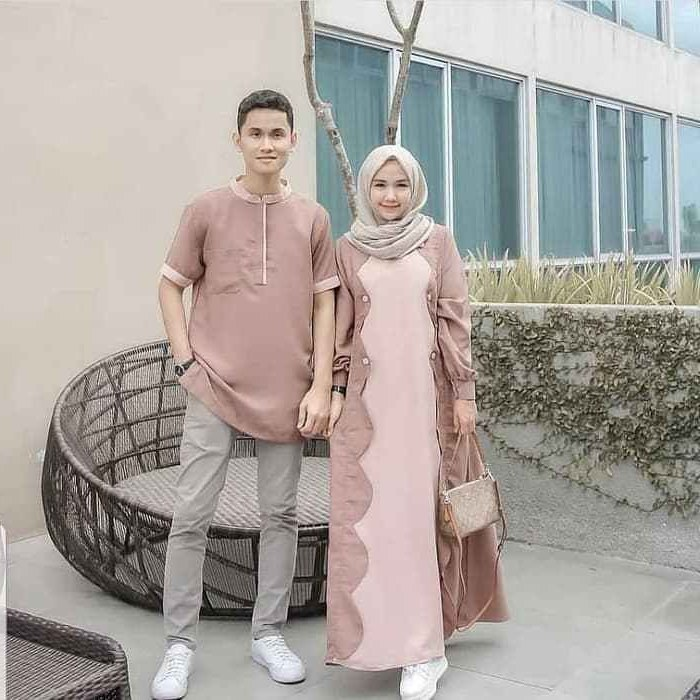 Design Model Baju Lebaran Syar'i 2019 Fmdf Model Baju Lebaran Gamis Couple 2019
