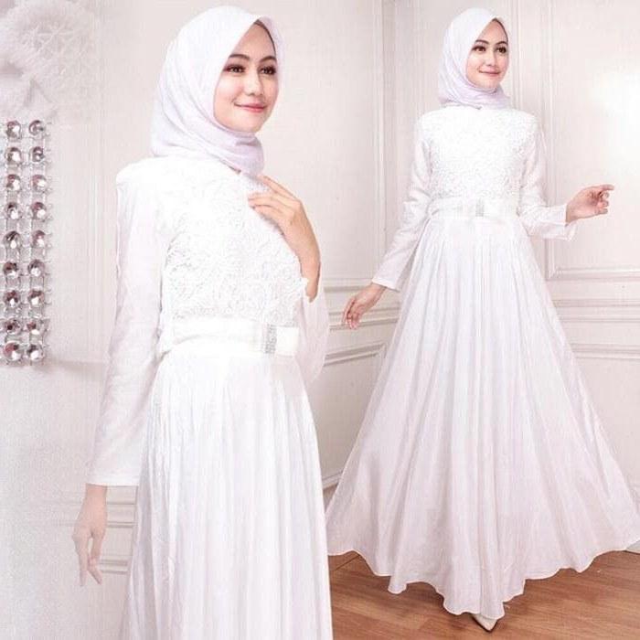 Design Model Baju Lebaran Warna Putih D0dg 5 Model Gamis Putih Modern Terbaru 2019 Yuk Siapkan Baju