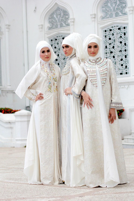 Design Model Baju Lebaran Warna Putih Dwdk Inspirasi Model Kebaya Pengantin Muslimah Cantik Modern