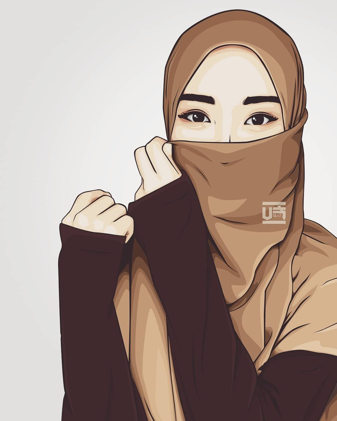 Design Muslimah Bercadar Cantik Kartun 8ydm 1000 Gambar Kartun Muslimah Cantik Bercadar Kacamata El