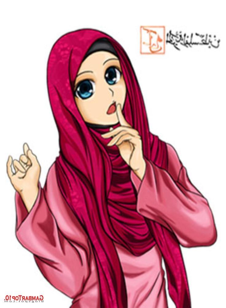 Design Muslimah Bercadar Cantik Kartun Bqdd Muslimah Bawa Panah Gambar Muslimah Cantik Gambar Muslimah