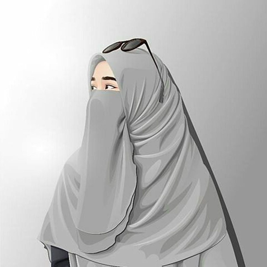 Design Muslimah Bercadar Cantik Kartun Dwdk 1000 Gambar Kartun Muslimah Cantik Bercadar Kacamata El