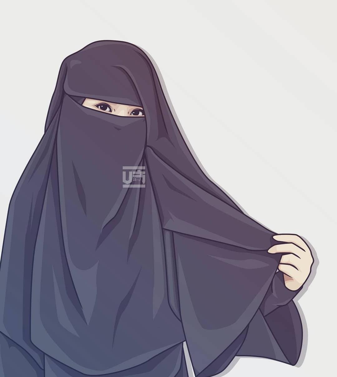 Design Muslimah Bercadar Cantik Kartun Ipdd Menakjubkan 30 Gambar Kartun Muslimah Bercadar Berkacamata