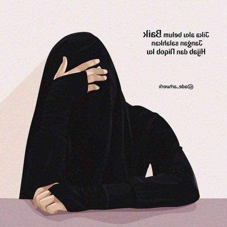 Design Muslimah Bercadar Cantik Rldj 75 Gambar Kartun Muslimah Cantik Dan Imut Bercadar