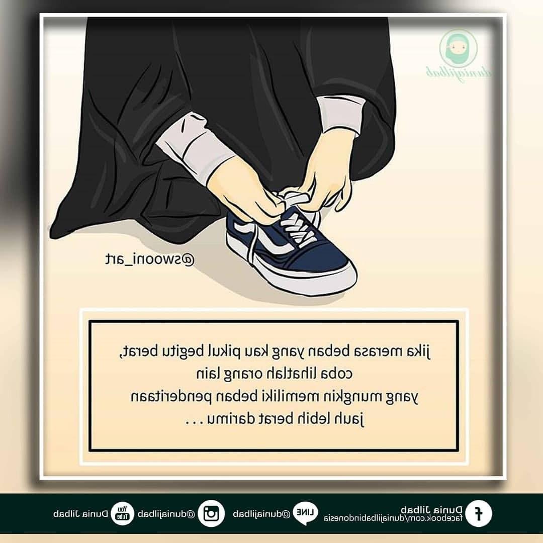Design Muslimah Bercadar Dari Belakang X8d1 Gambar Kartun Berhijab Kekinian