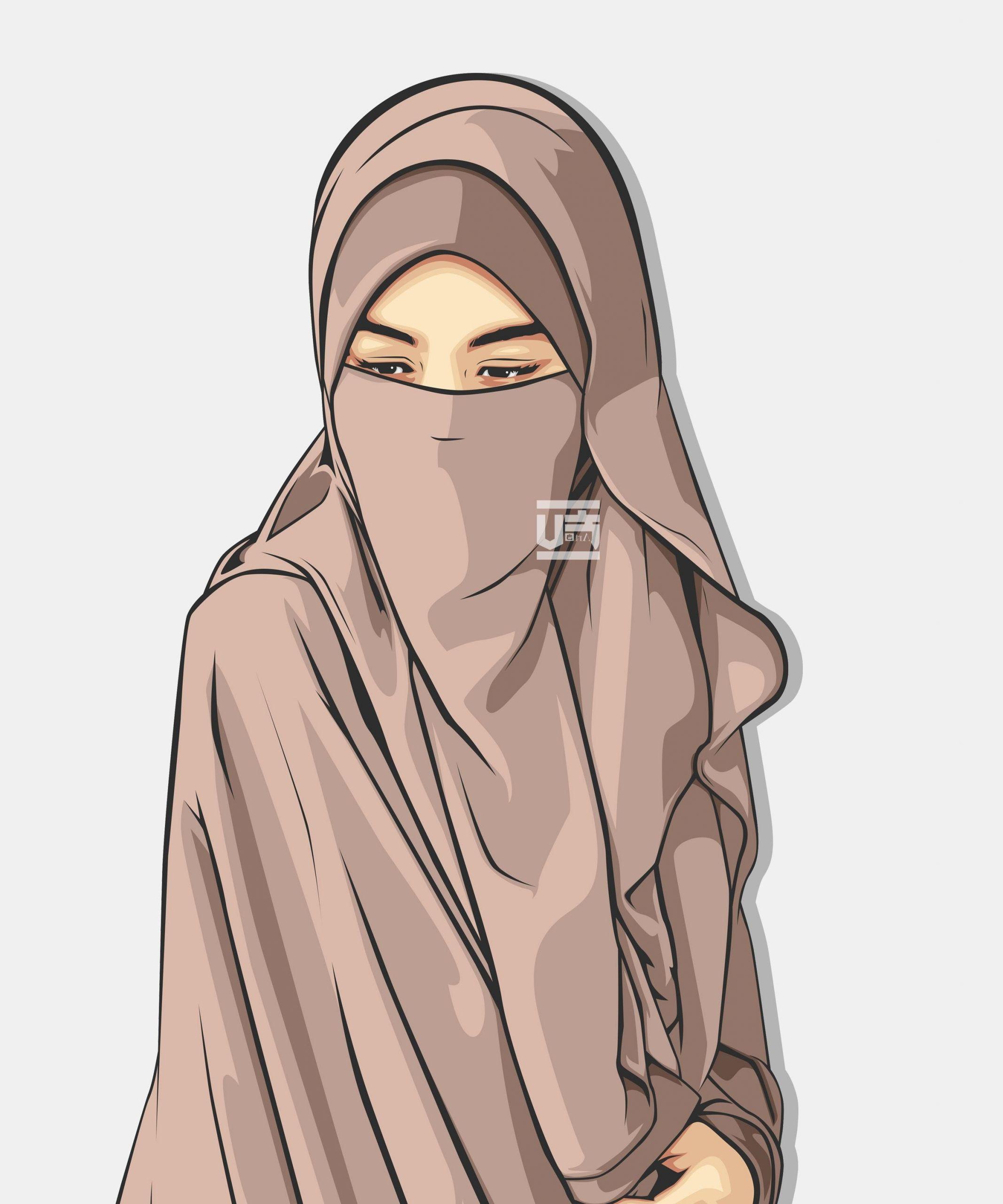 Design Muslimah Kartun Budm top Gambar Kartun Muslimah Pakai Niqab