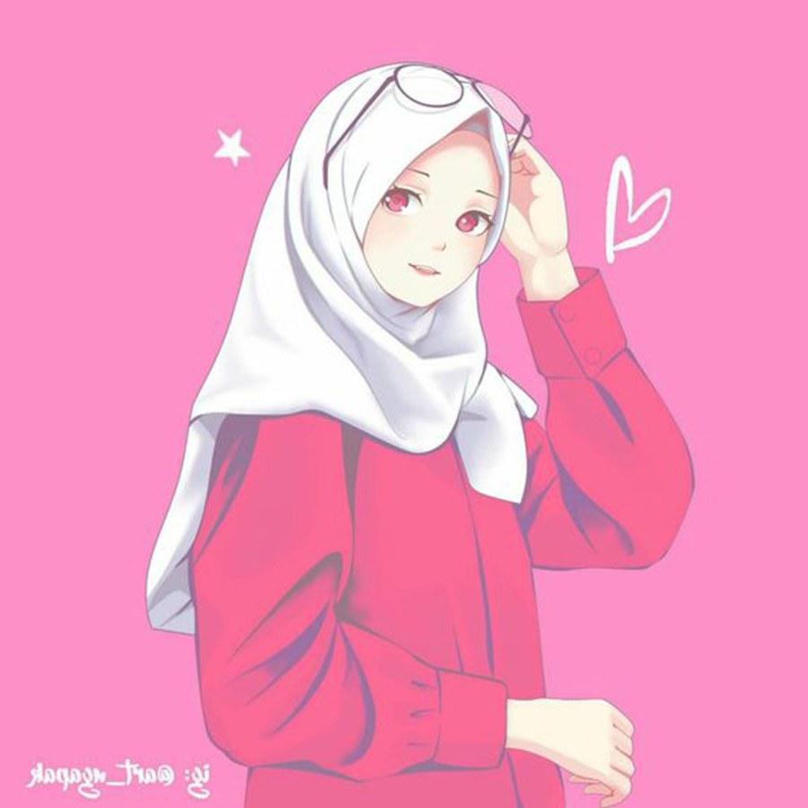 Design Muslimah Kartun Dddy 1000 Gambar Kartun Muslimah Cantik Bercadar Kacamata El