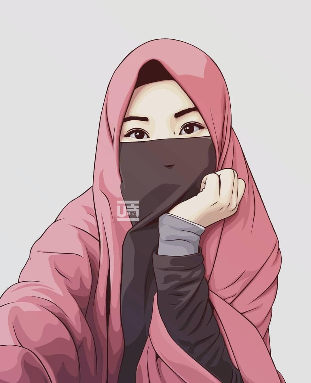 Design Muslimah Kartun S1du 1000 Gambar Kartun Muslimah Cantik Bercadar Kacamata El