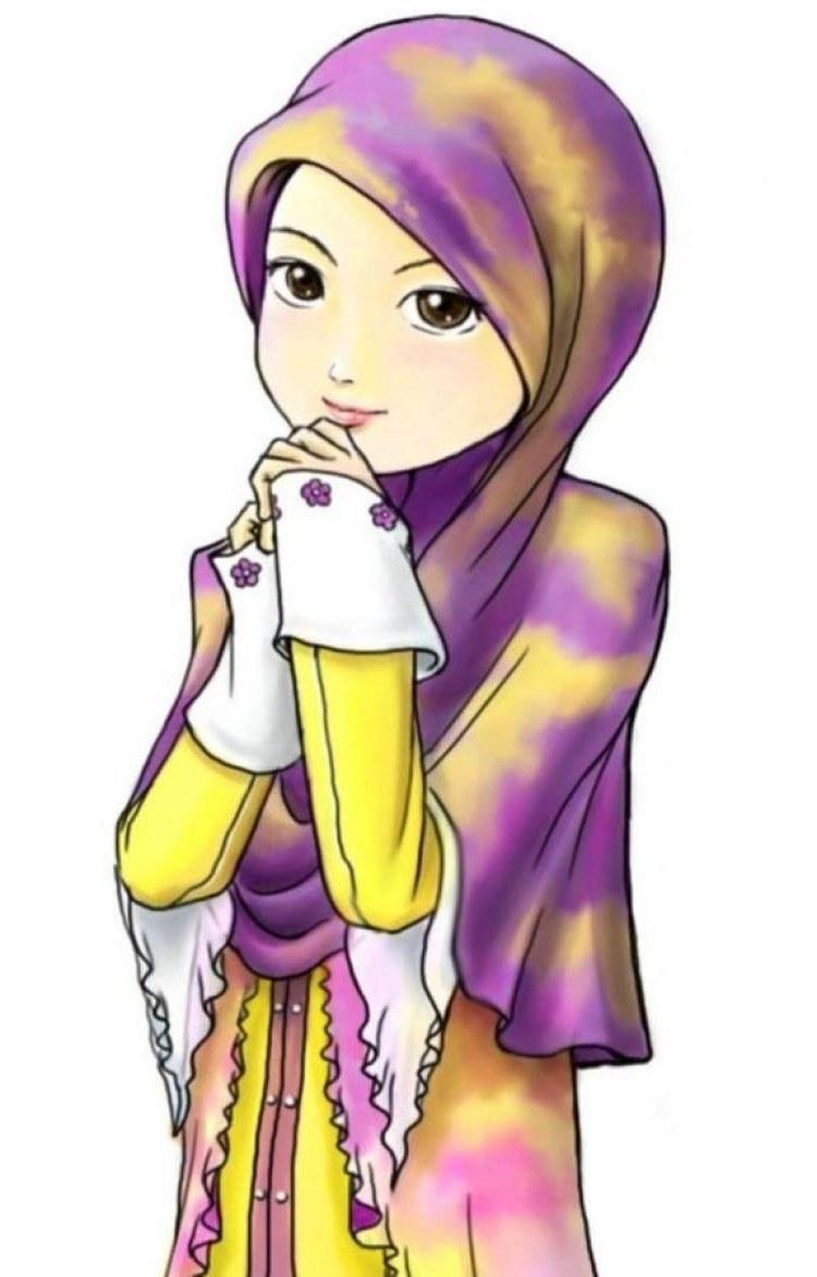 Design Muslimah Kartun Sedih D0dg 300 Gambar Kartun Muslimah Bercadar Cantik Sedih Keren